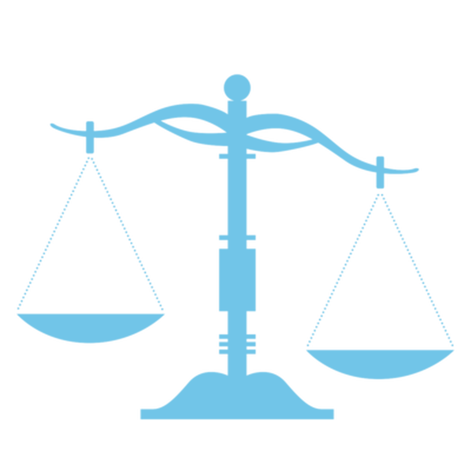 The justice balance scale
