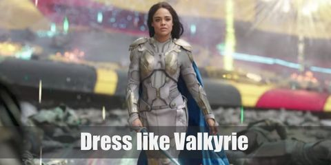 Valkyrie has different outfits. One of her most famous attires is her Valkyrie armor. But for this article, let's feature her awesome garb from when she was in Sakaar. She wears an all-black ensemble with a blue cape and white facial paint. She also brings along her sword wherever she goes.