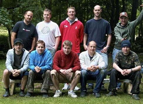 Group shot of everyone at Coed-y-Brenin