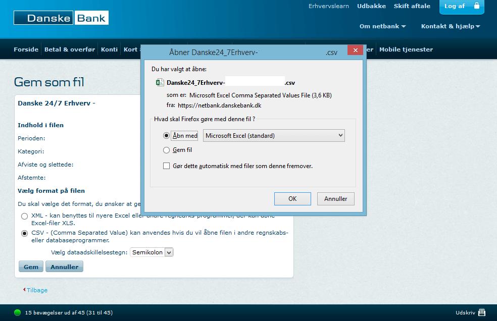 CSV fra Danske Bank