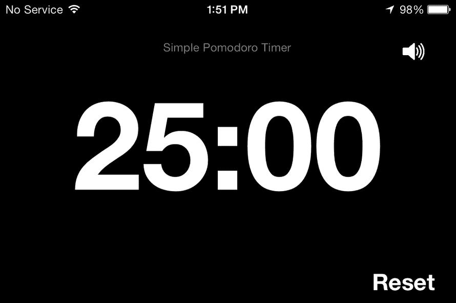 Simple Pomodoro Timer