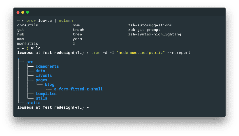My Hyper terminal, showing some configuration