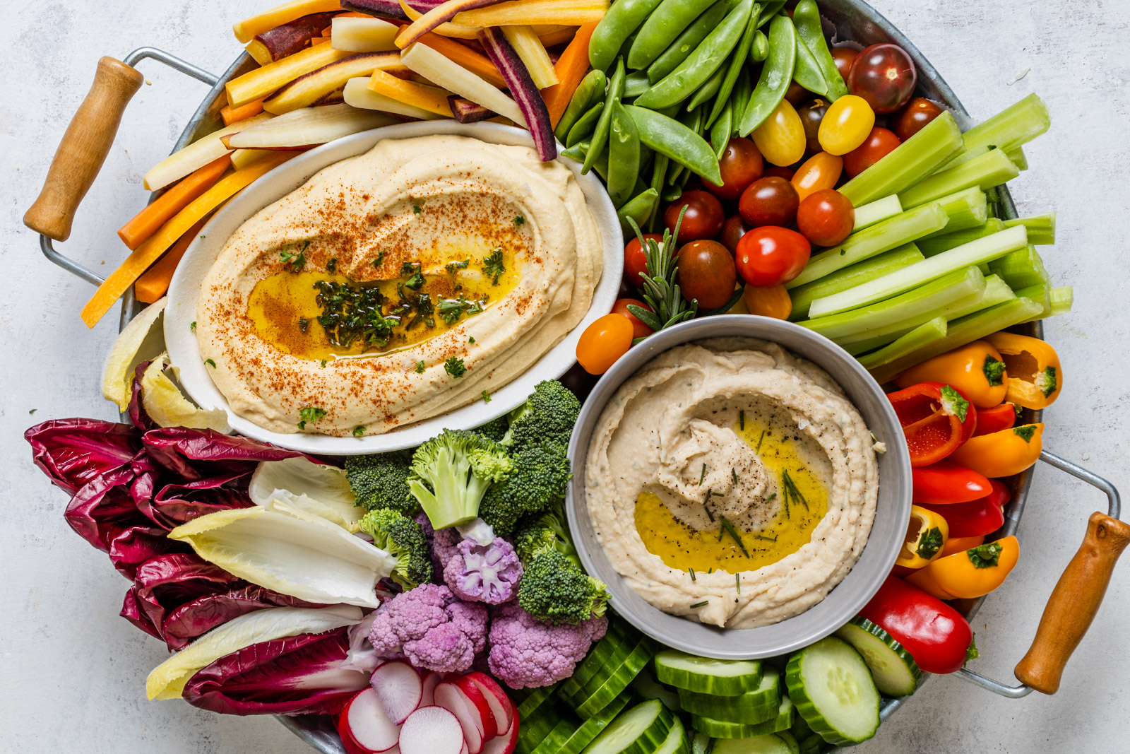 Creamy Hummus and White Bean Dip With Roasted Garlic and Rosemary