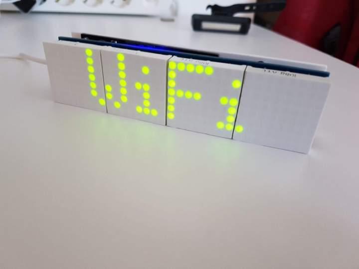Часы на светодиодных матрицах и esp8266