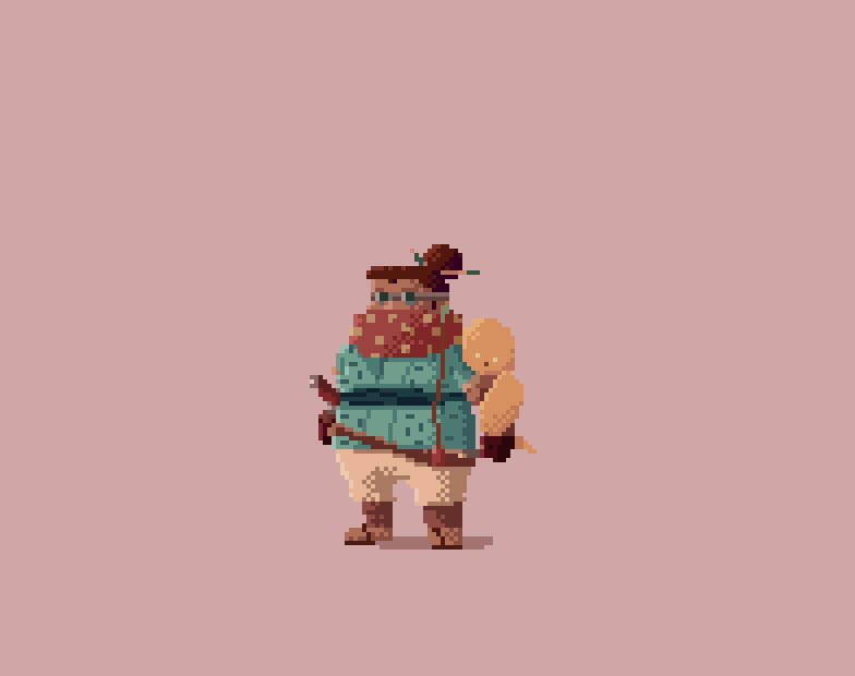 Samurai 1 pixel art