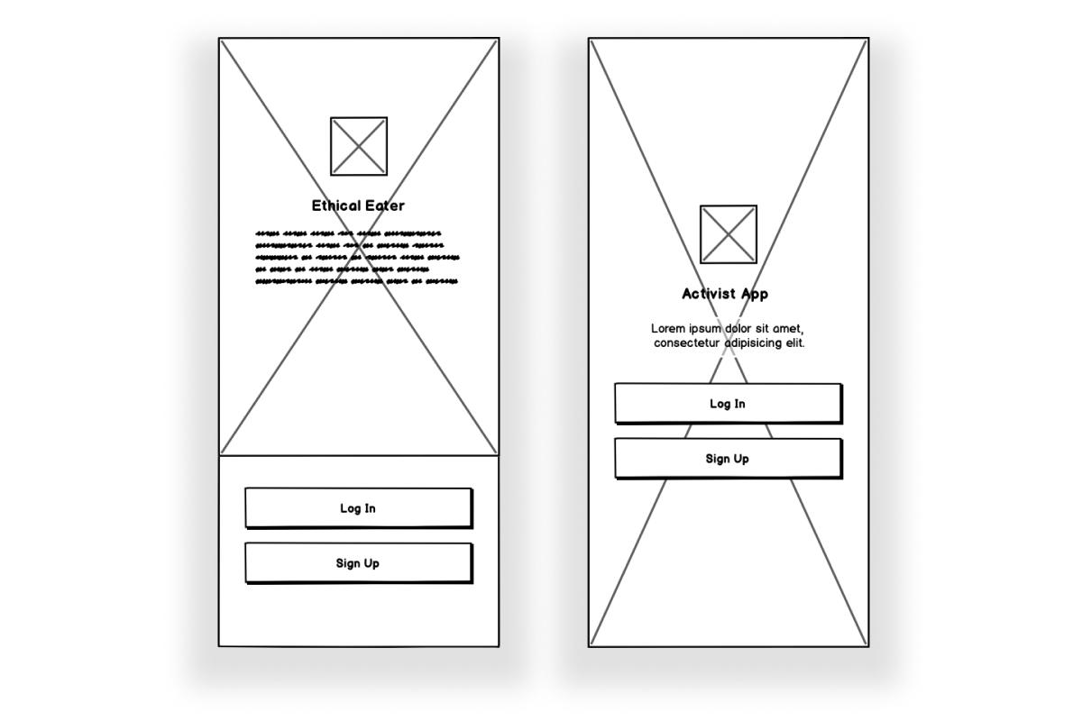 Mid-fidelity app screen wireframes