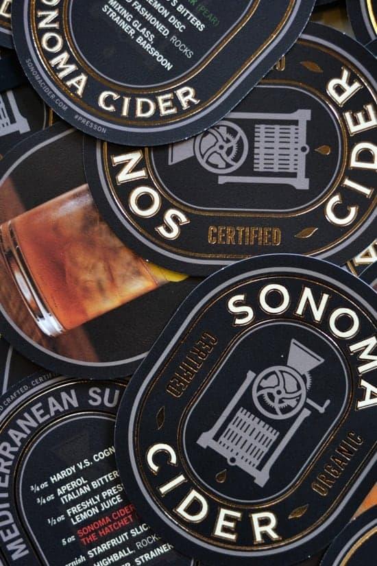 Sonoma Cider drink recipe cards