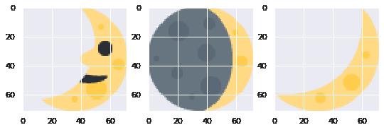 Moon emoji cluster
