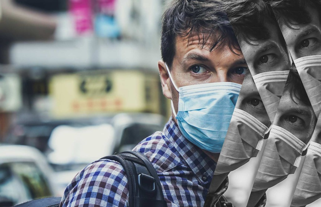 A photo illustration of the mental health toll that the pandemic is taking on individuals