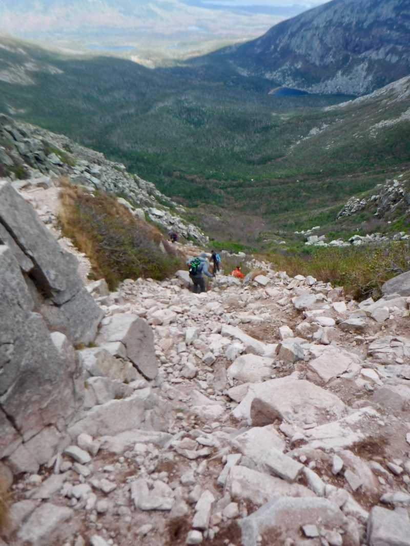 Gravel chute at Saddle Trail