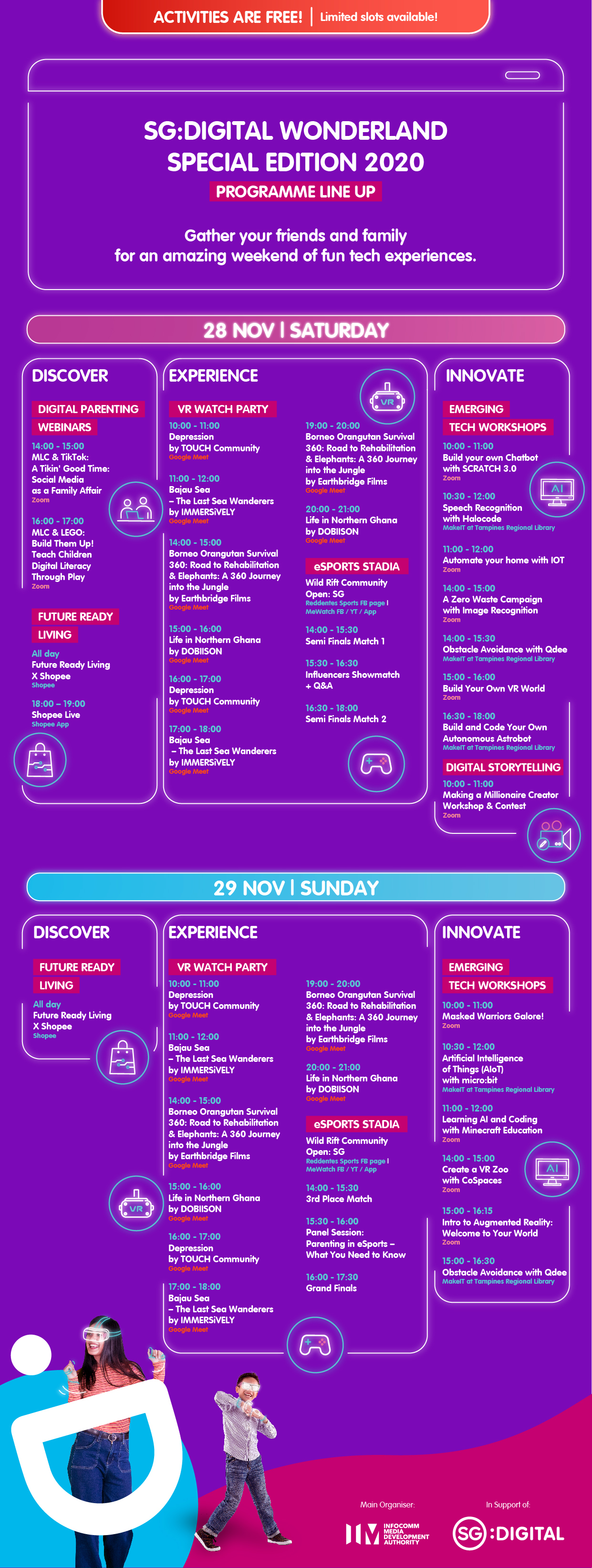 Programme Sheet - Singapore Digital Wonderland 2020