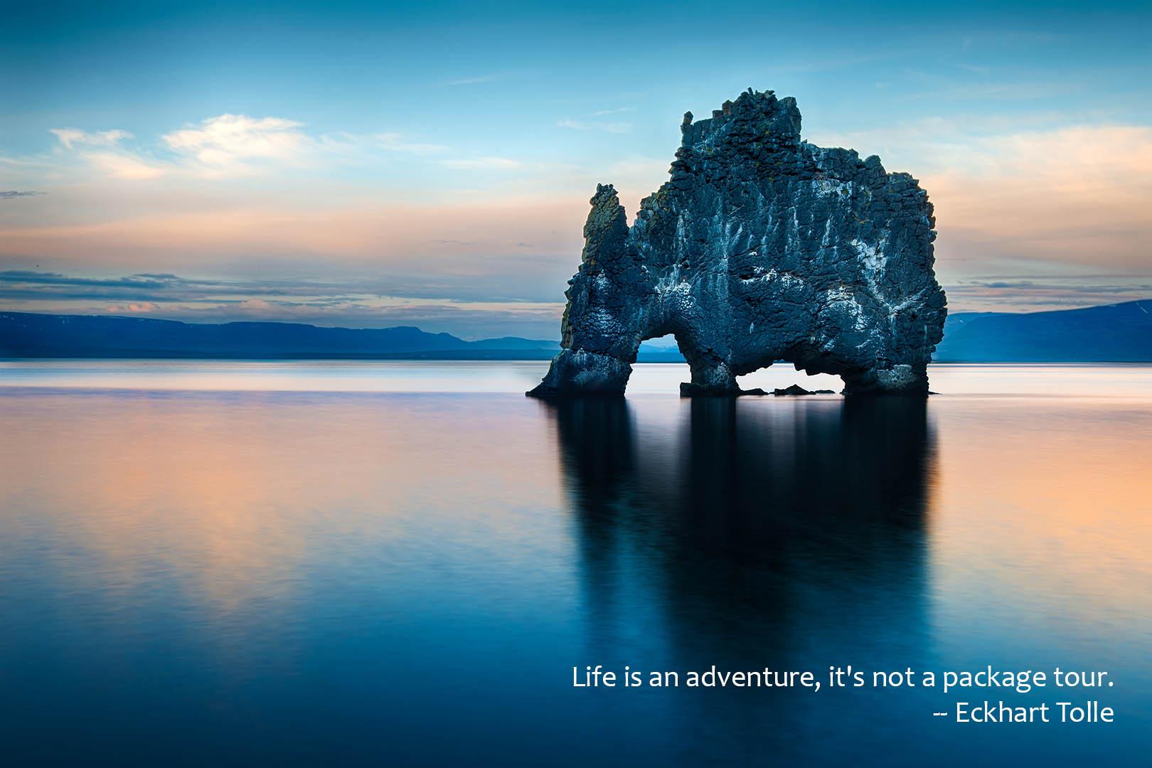 Beautiful rock island