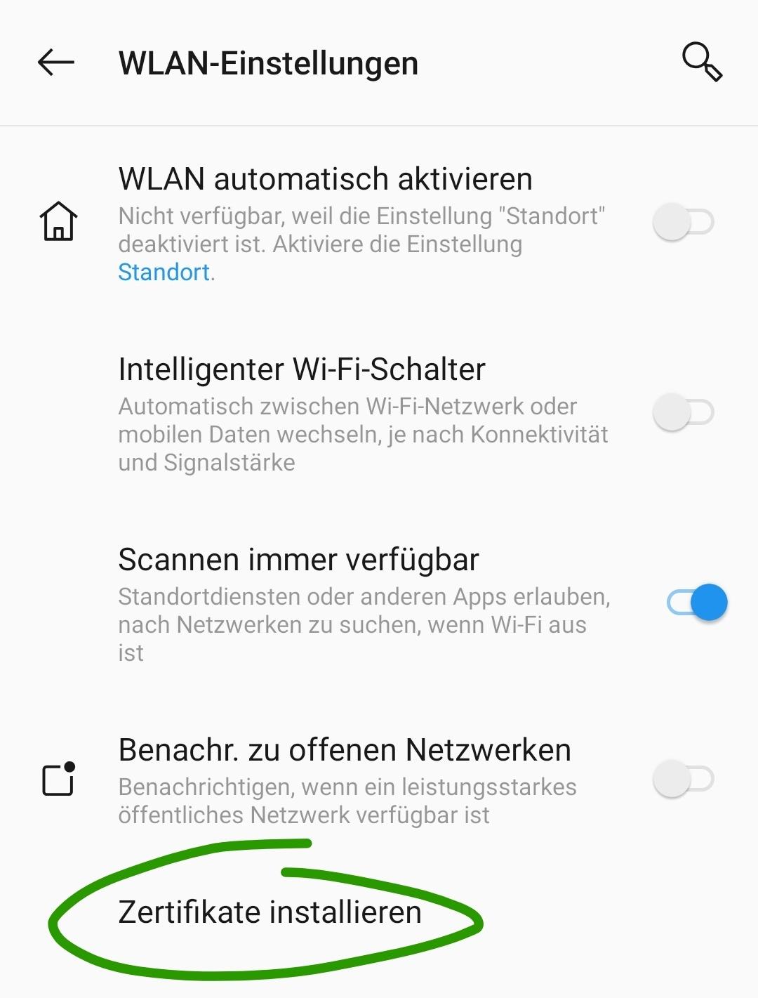 Telekom-Root-Zertifikat installieren