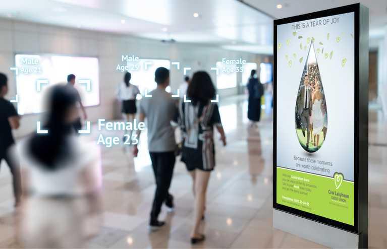 clcu digital display advertisement in airport