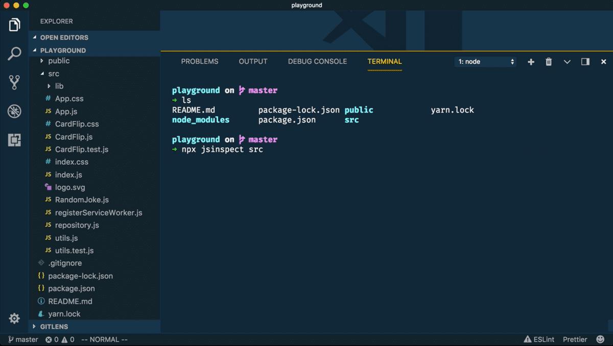 screenshot of utils.js before