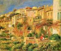 Renoir travelled to warmer climbs to ease his arthritis and acquired a house in Cagnes, pictured.