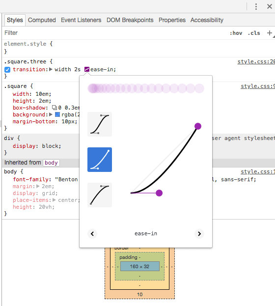 Debug CSS Transitions in Chrome DevTools