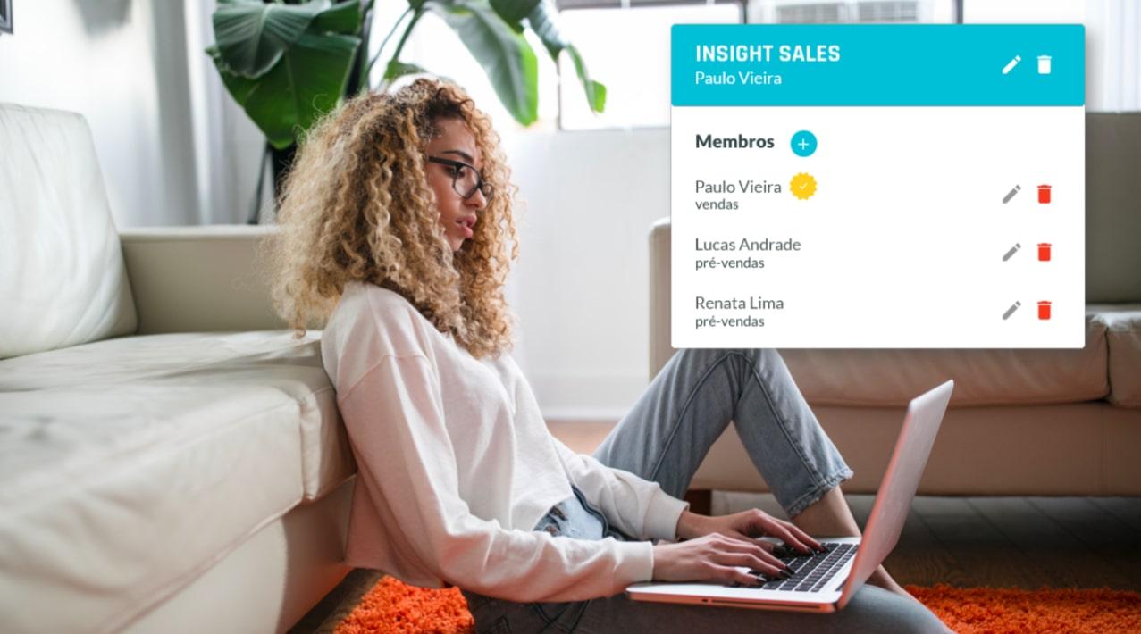 Adicionar equipe Insight Sales