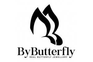 By butterfly