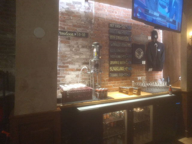The Democracy Brewing taproom