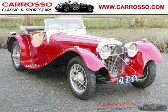 Jaguar SS100 3.5 Roadster / Heritage Trust Certificate / RHD