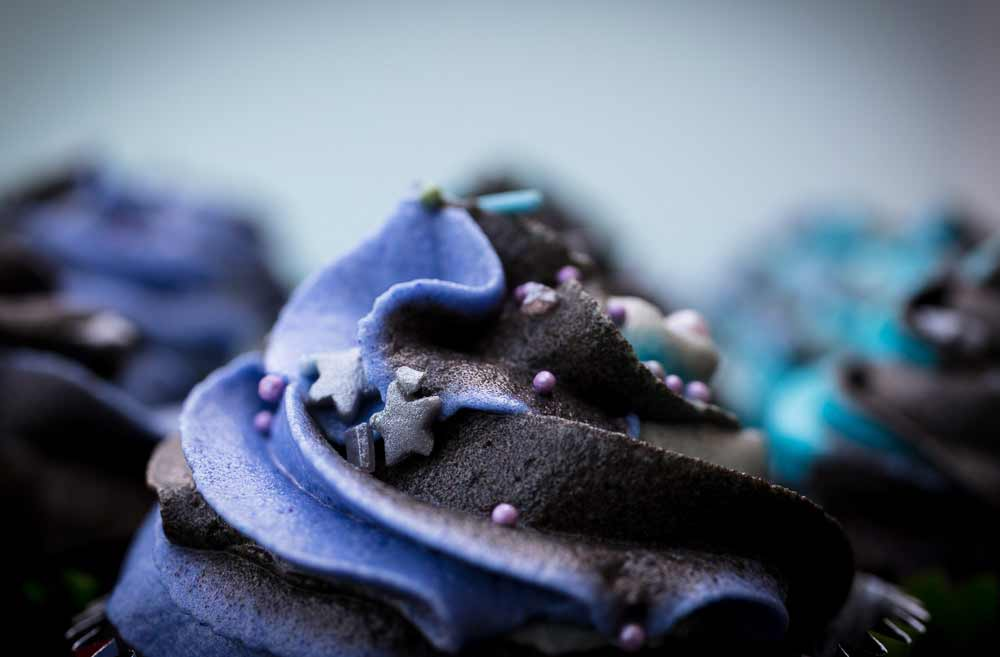 vegan milky way galaxy cupcakes