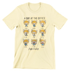 Aggretsuko Light Yellow Aggressive Retsuko T-shirt