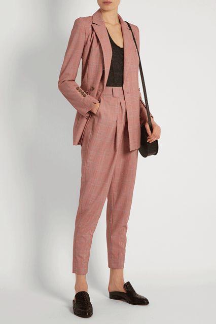 Tailleur femme rose