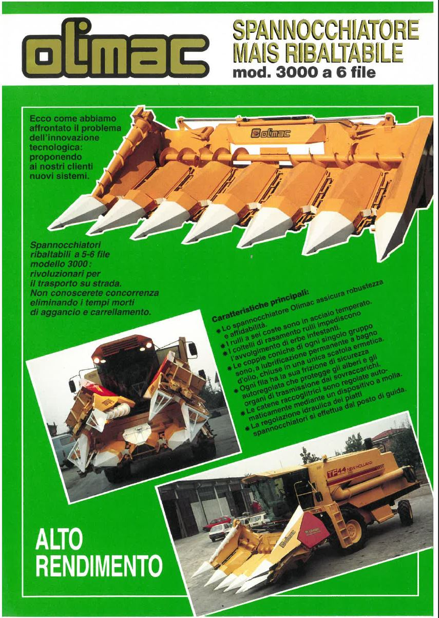The picture above is the 1982 brochure of the Olimac model CL3000.