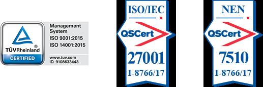 ISO und NEN Zertifizierung