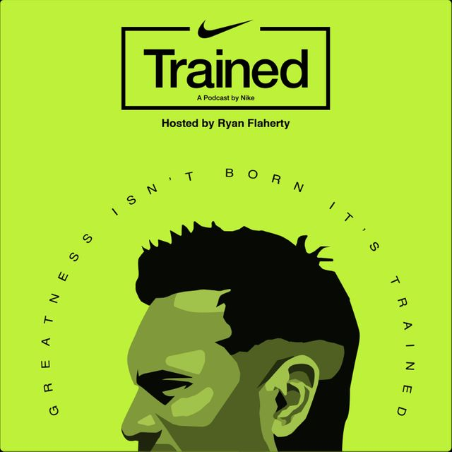 podcast cover of Trained by Ryan Flaherty