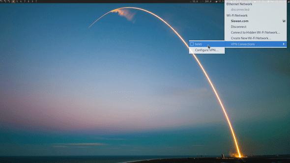 Gambar 3.3 Mengaktifkan koneksi ke VPN server