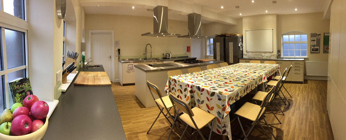 image of kitchen with table cloths