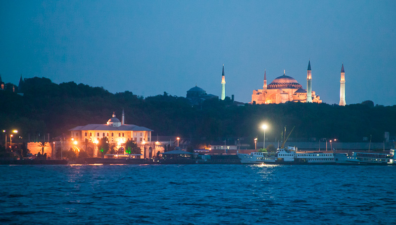 Istanbul Skyline at Night