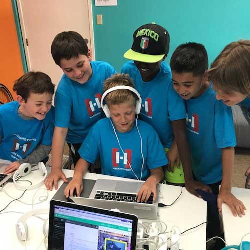 images of kids coding