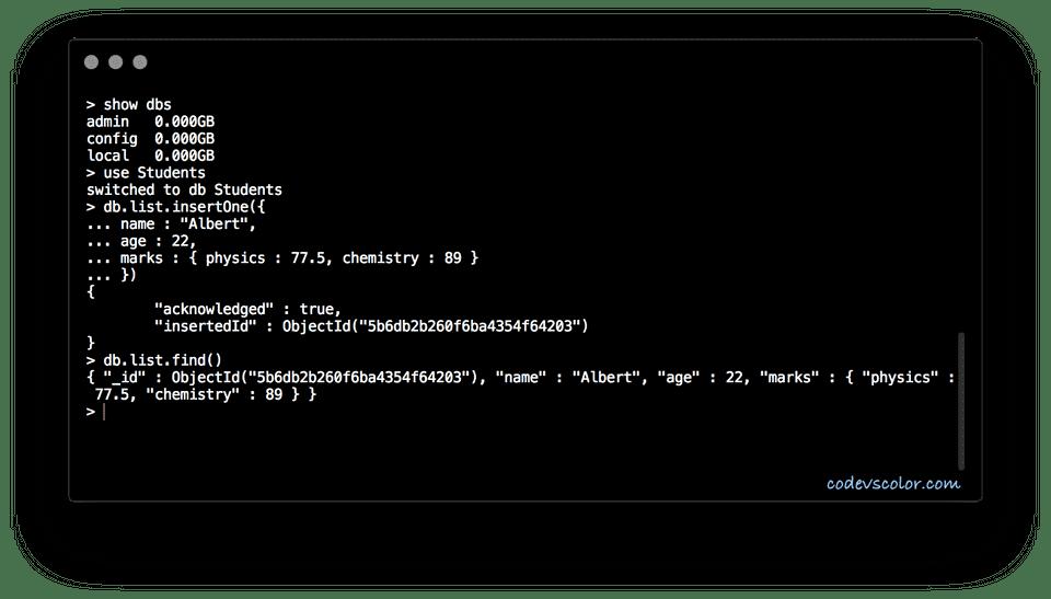 mongo check value type