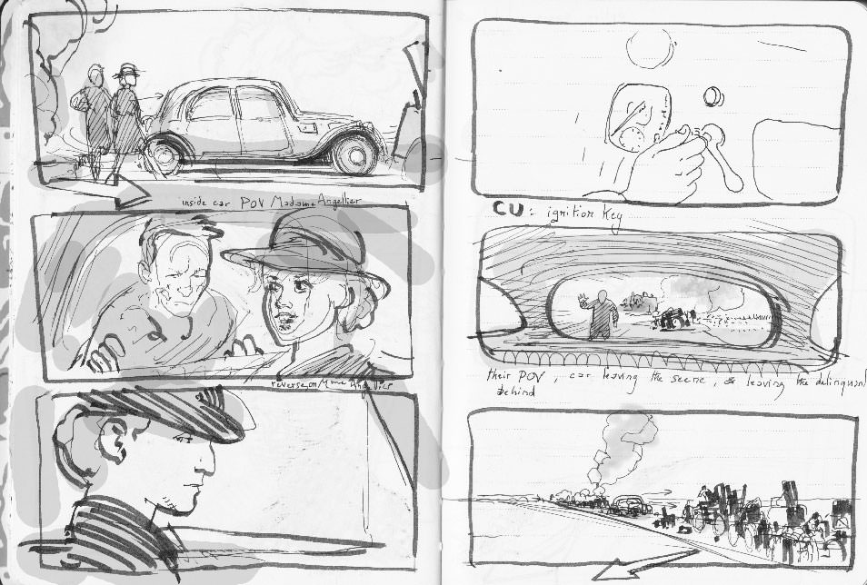 Suite Française first rough storyboard 10
