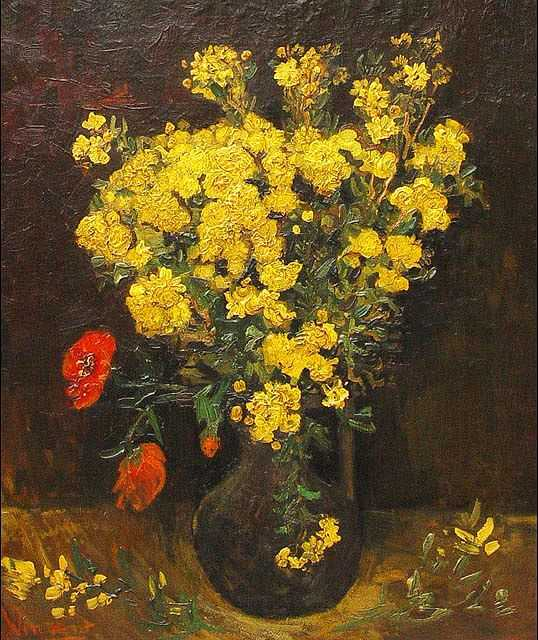 Poppy Flowers (also known as Vase And Flowers and Vase with Viscaria) by Van Gogh, 1887, stolen the second time from Cairo's Mohamed Mahmoud Khalil Museum in August 2010