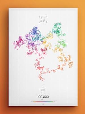 Art in Pi - 100 000 digits