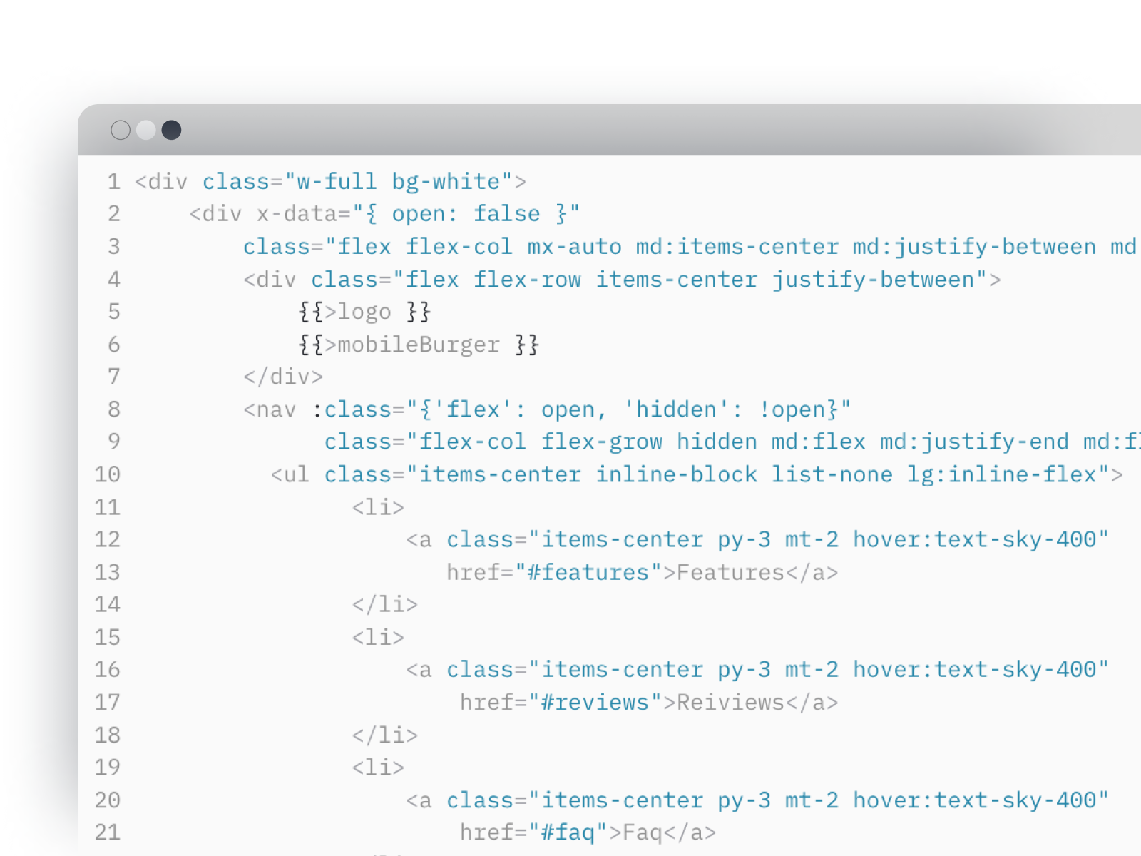 ' Clean and tidy code.' feature