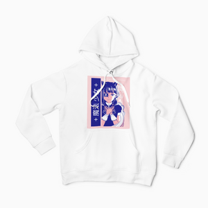 Otakuchan Magical Girl Unisex White Hoodie