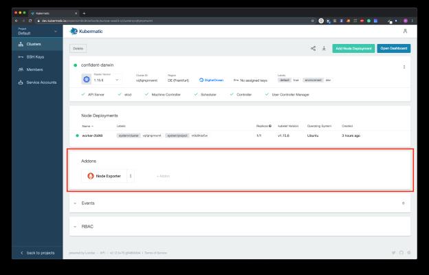 Kubermatic Kubernetes Platform Dashboard