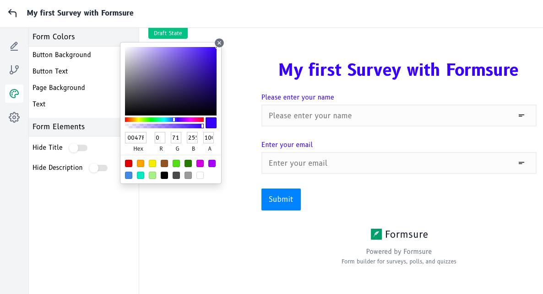 form theme