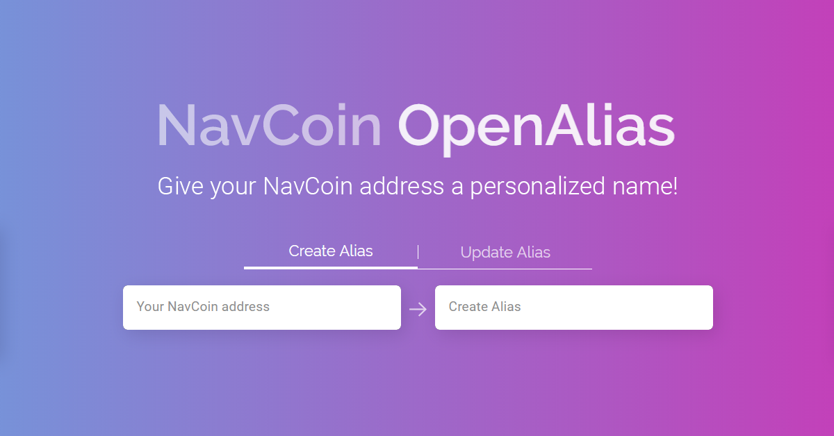 NavCoin Launches OpenAlias Integration