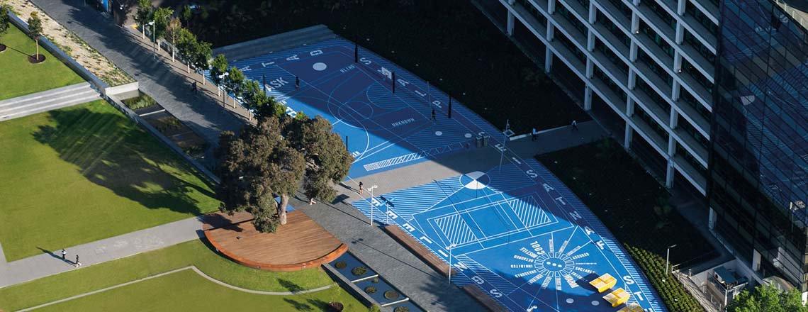 Monash University campus arial view