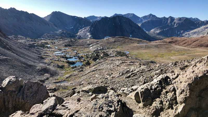 A view from the top of Pinchot Pass