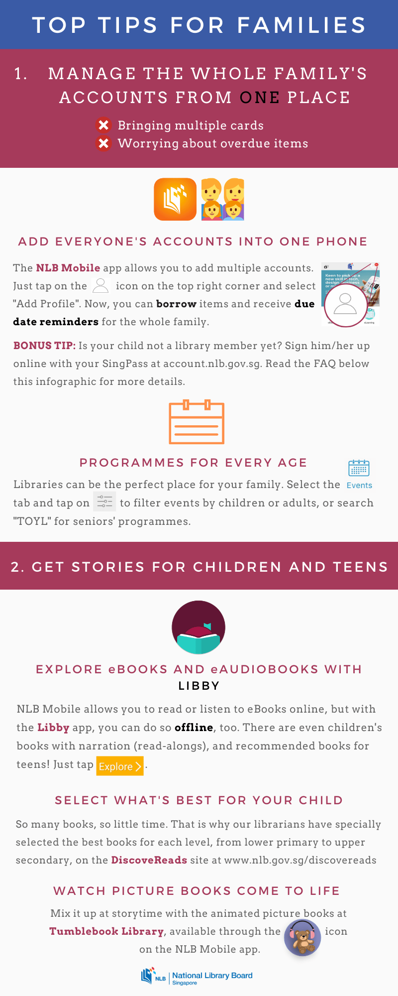 An infographic with tips on how to bond through reading and learning.
