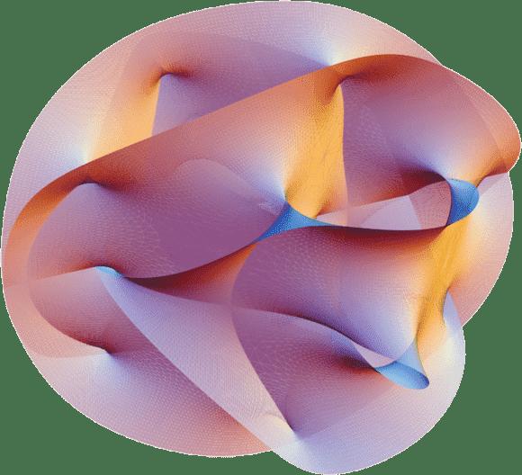 Cross section of the quintic Calabi–Yau manifold