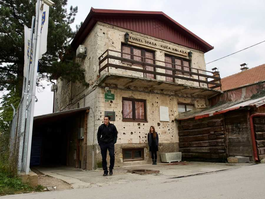 The house the helped Sarajevo survive the seige in 1992.