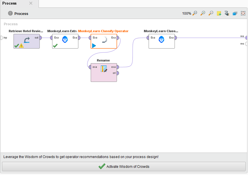 Using Rapidminer and MonkeyLearn to analyze reviews with machine learning